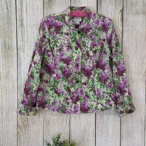 Christopher & Banks floral blazer